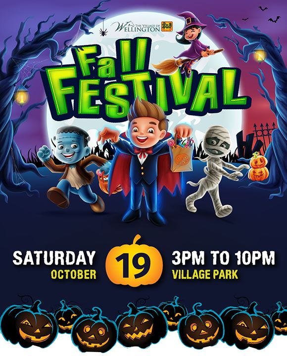 The Village of Wellington Fall Festival, Saturday October 19, 3 pm to 10 pm, Village Park
