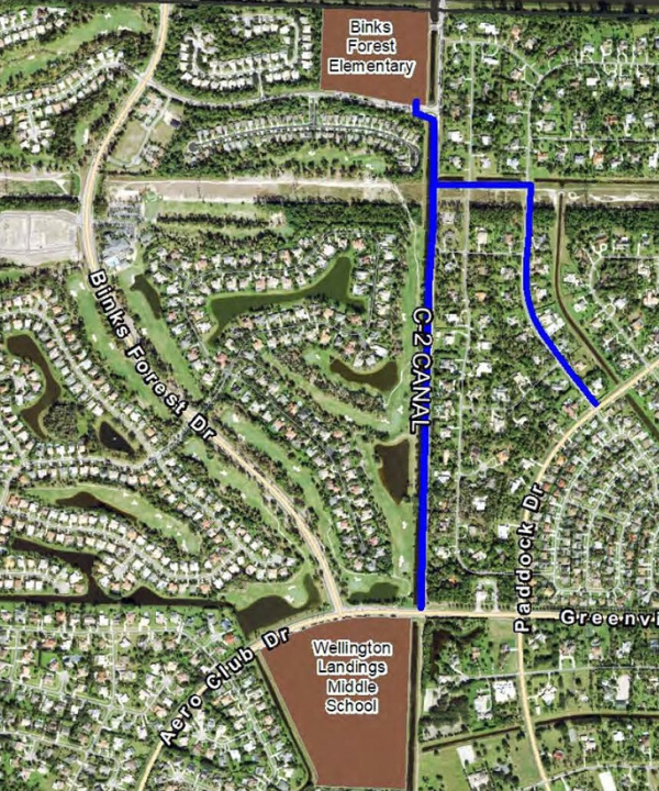 Proposed C-2 Canal & Horseshoe Trace Multi-Purpose Pathway Rendering