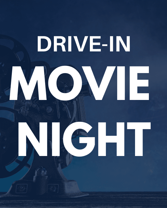 Drive in movie night at the wellington green park